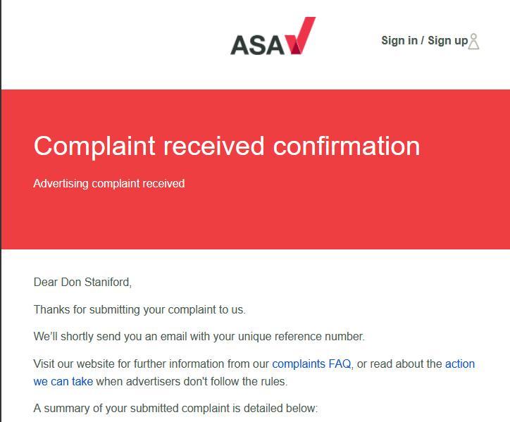ASA complaint 21 March 2021 #3