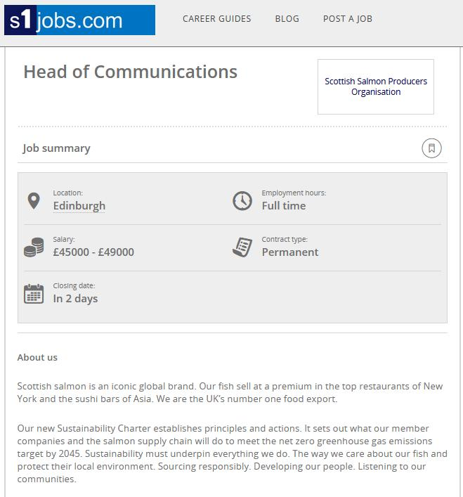 Head of Communications new job April 2021 #1