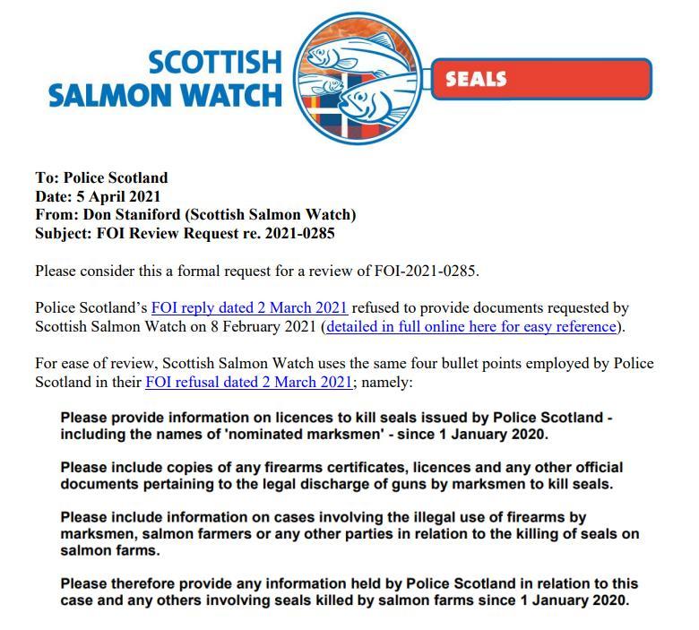 Police Scotland FOI Review 5 April 2021 #1