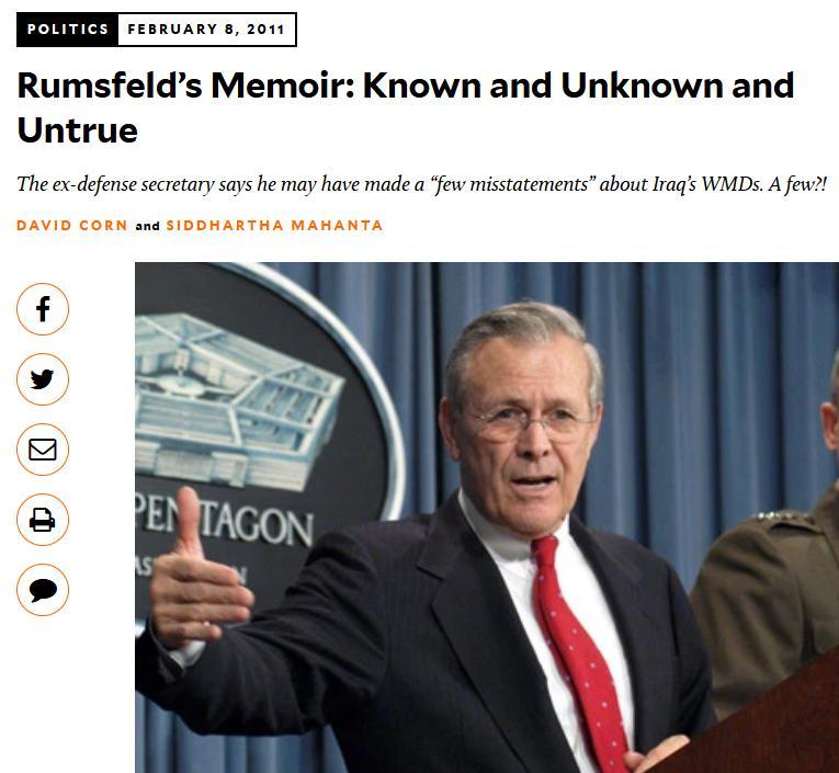 Blog Rumsfeld #7
