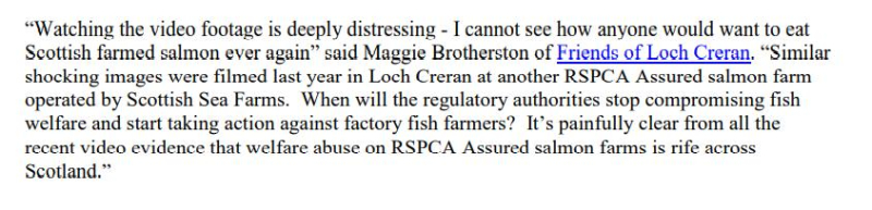 PR Video Exposes RSPCA Abused Scottish Salmon May 2021 #4