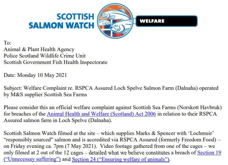 Welfare Complaint re