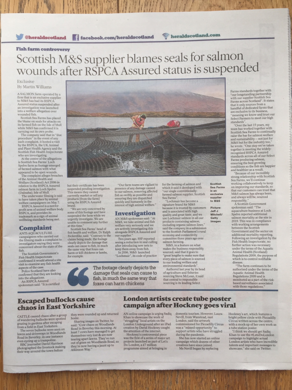 Herald on Sunday 16 May 2021 newspaper version whole page