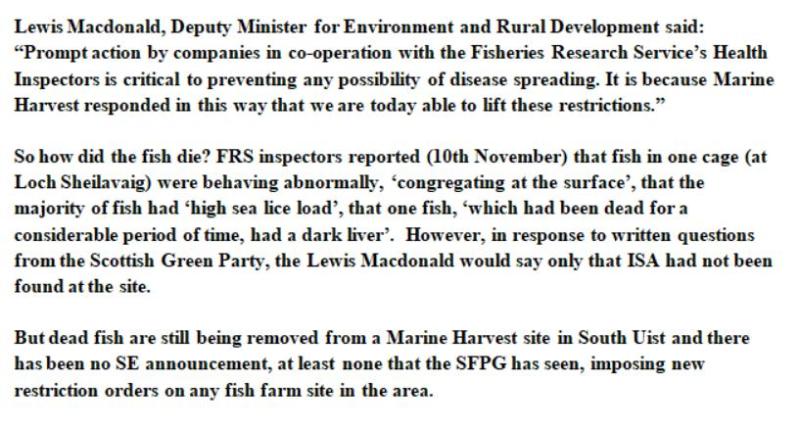 Sunday Times July 2005 North Uist salmon dump #7 SFPG