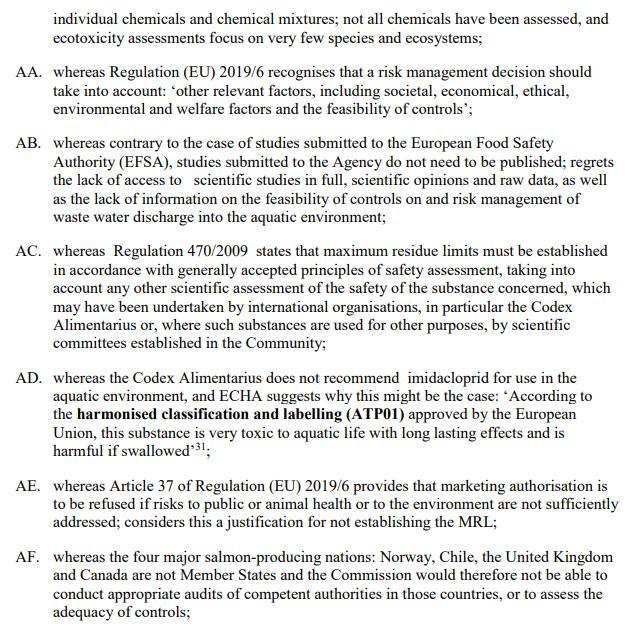 Imidacloprid EU Draft Motion for a Resolution 27 May 2021 #8