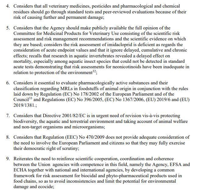 Imidacloprid EU Draft Motion for a Resolution 27 May 2021 #10