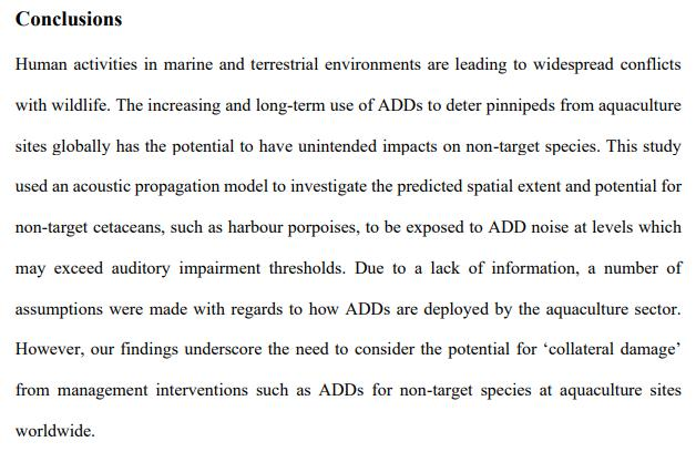 Findlay et al 2021 Auditory impairment from acoustic seal deterrents J of Applied Ecology #3 Concs