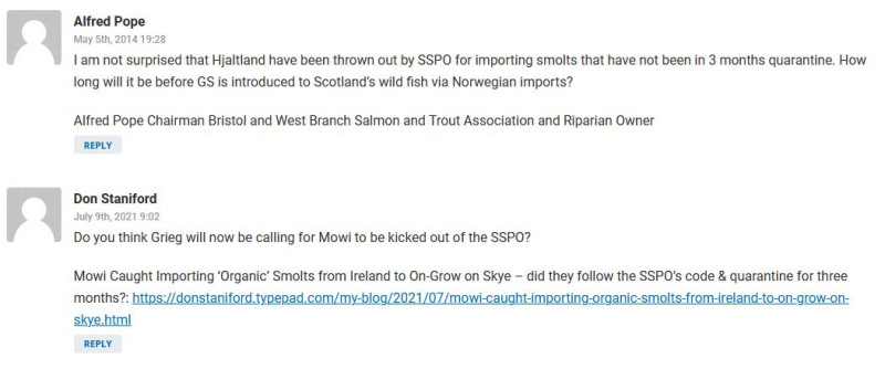 Salmondemic blog July 2021 #52 Shetland Times comments