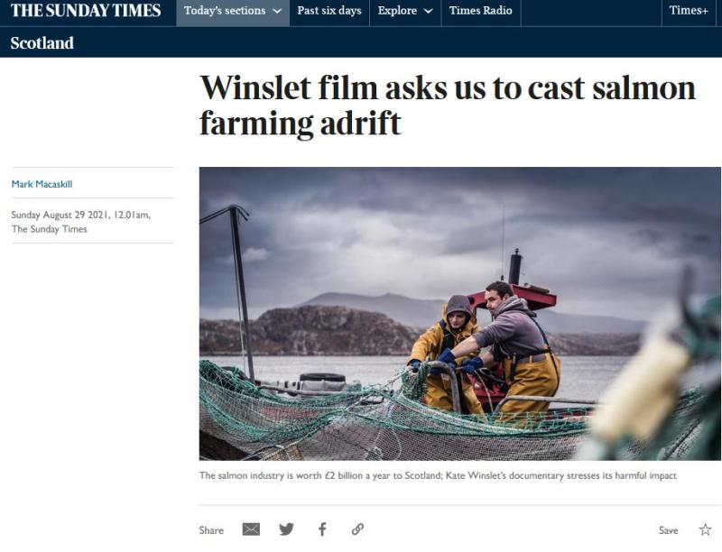 Sunday Times 29 Aug 2021 Winslet film #1