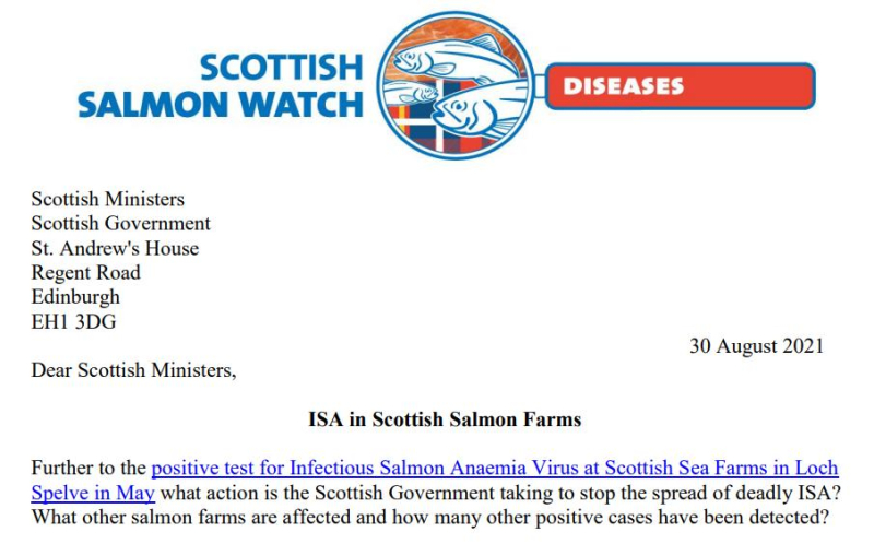 Letter to Scottish Ministers re ISA 30 August 2021 #1