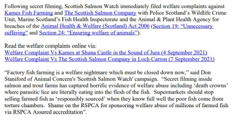PR Horror Videos Reveal Welfare Abuse Inside Scottish Salmon & Trout Cages 12 September 2021 #5