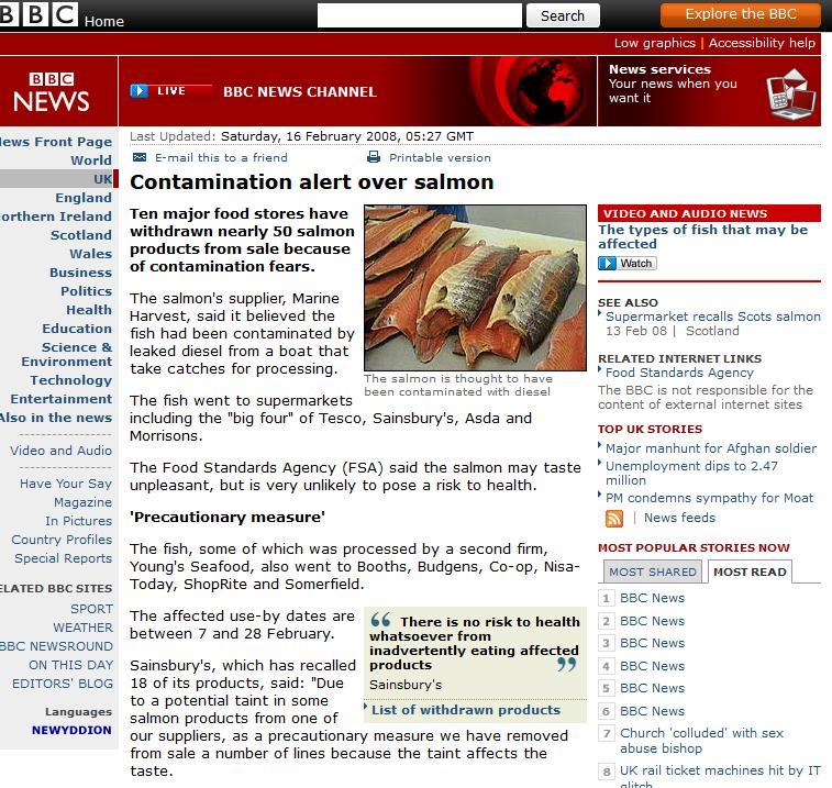 BBC diesel contamination