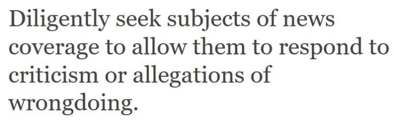 Journalistic Code of Ethics #1