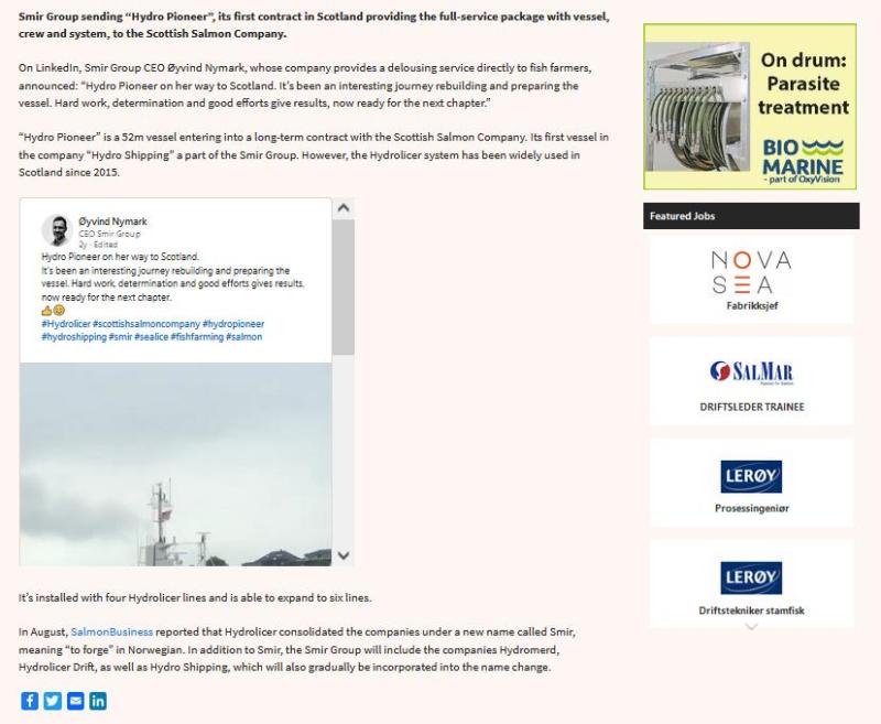Hydrolicer arrives at West Strome 18 Oct 2021 #3