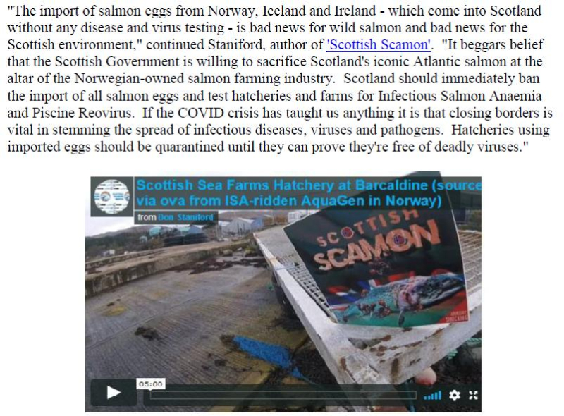 PR Norwegian Salmon Ova Slip Back Into Scotland 25 August 2020 #5