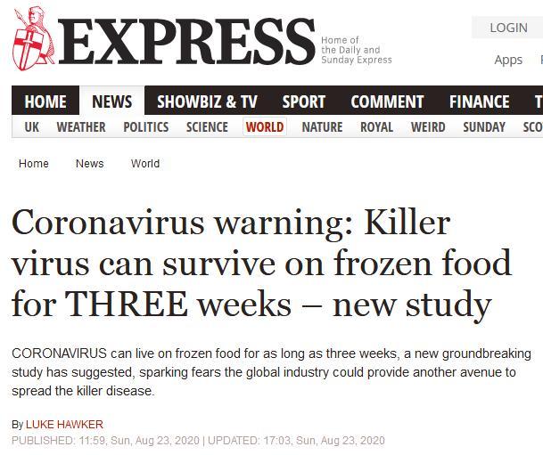 Frozen Coronavirus blog #10