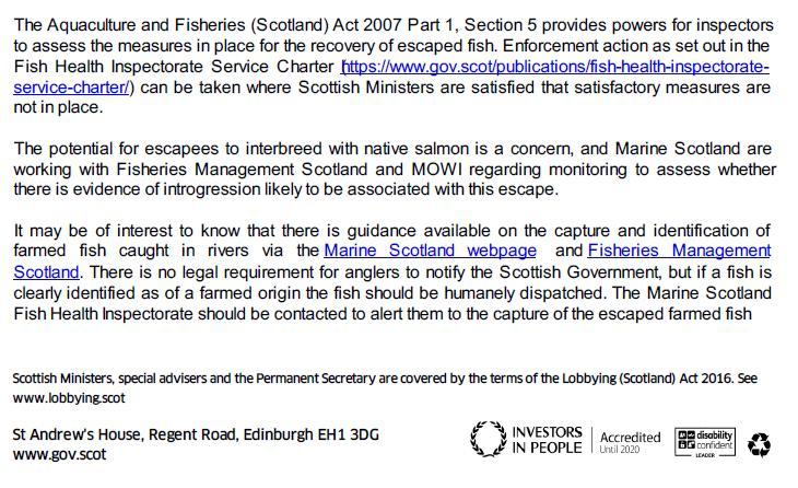 Letter from Scottish Ministers after Mowi Carradale escape 24 Sept 2020 #2