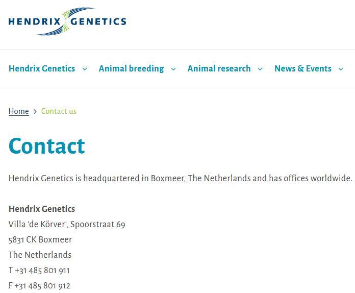 Hendrix Contact form online