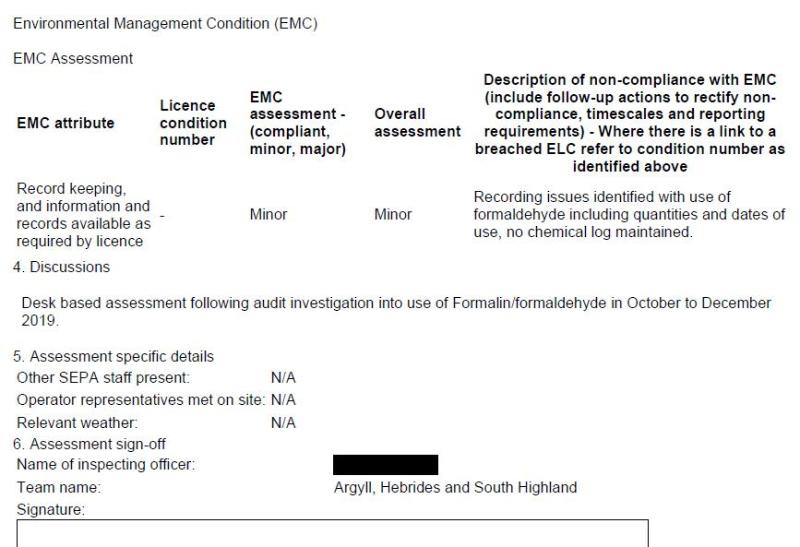 Poor 2019 SEPA compliance assessment #2