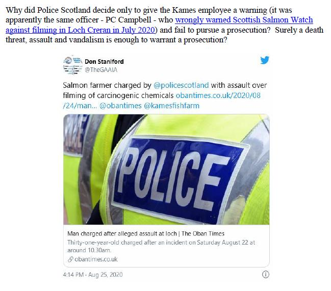 Letter to Police Scotland 23 Oct 2020 #4