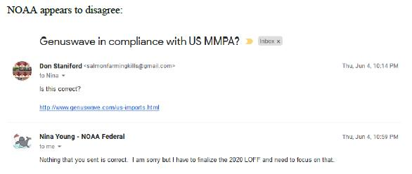 Genuswave MMPA compliance #2