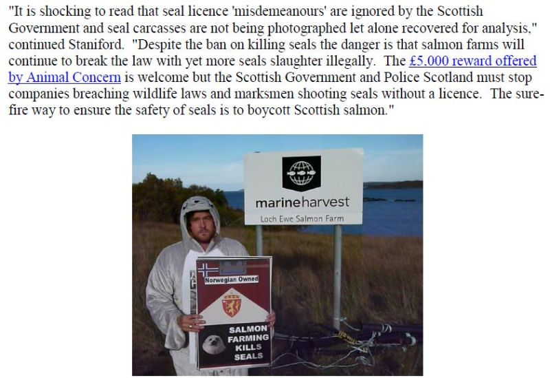 PR Illegal Killing of Seals by Scottish Salmon Farms 25 Feb 2021 #10 Don quote