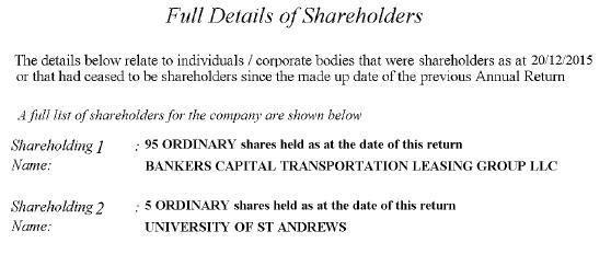 GenusWave shareholders 2015 return #4