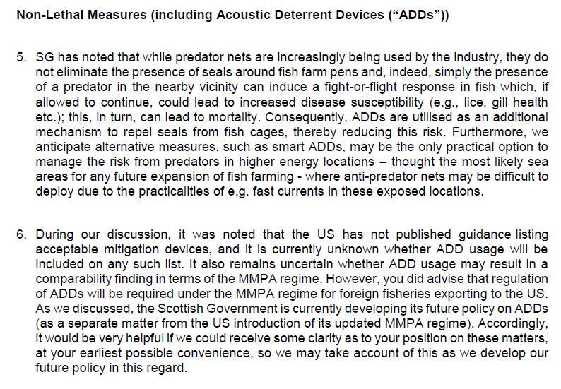FOI SG MMPA 29 Oct 2020 SG letter to NOAA 7 Jan 2020 #2