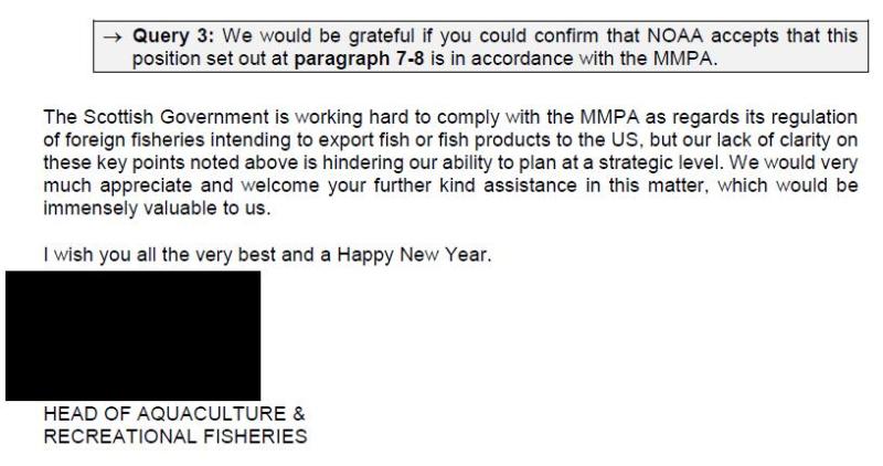 FOI SG MMPA 29 Oct 2020 SG letter to NOAA 7 Jan 2020 #4