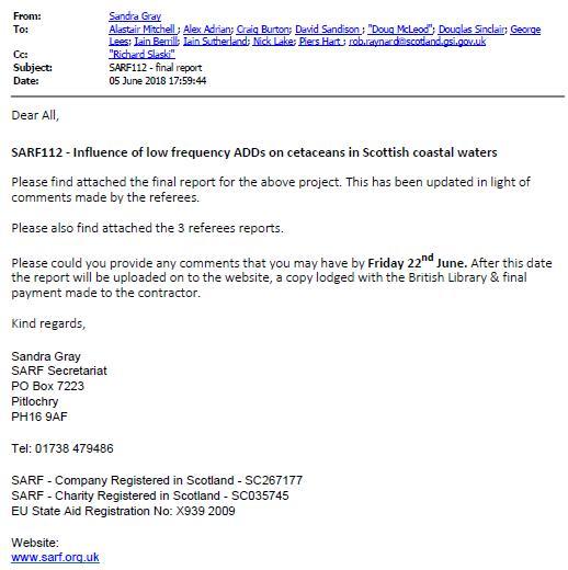 SARF ADD report #2 SNH FOI disclosure June 2020