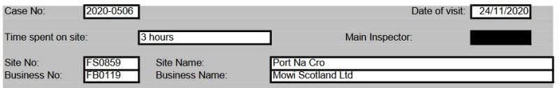 FHI Mowi Piscirickettsia Port Na Cro #1