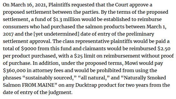 Ducktrap settlement blog March 2021 #2