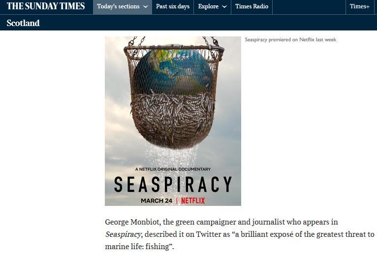 Sunday Times on Seaspiracy 28 March 2021 #5