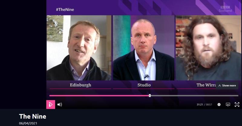 BBC Scotland The Nine 6 April 2021 #1 b Tavish smirking