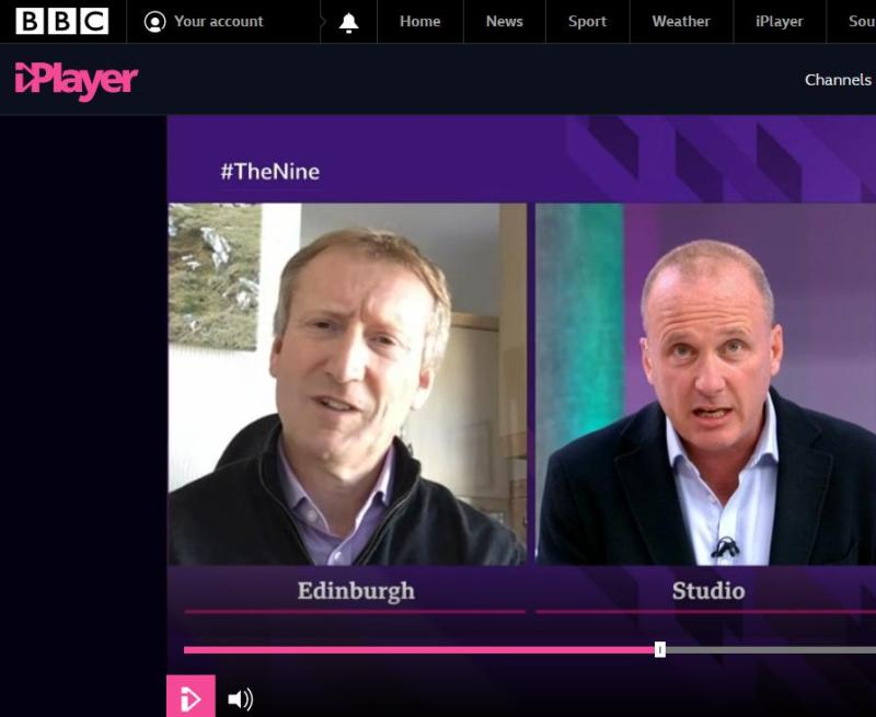 BBC Scotland The Nine 6 April 2021 #7 Tavish lying