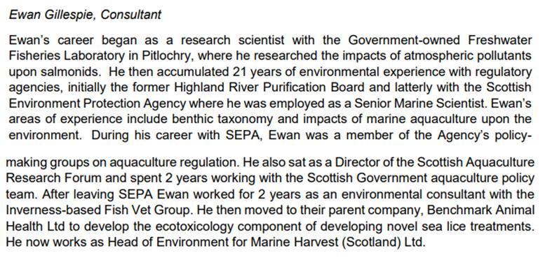 Ewan Gillespie Marine Harvest bio