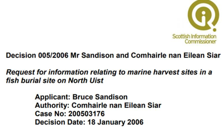 SIC Decision 005-2006 Fish Burial Site on North Uist #1