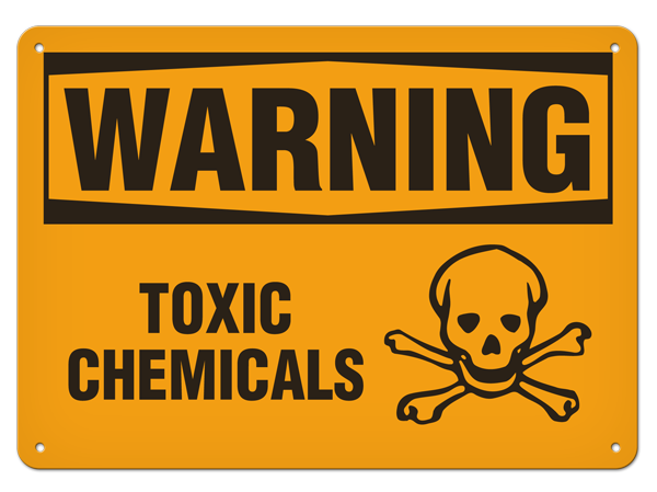 Toxic chemicals warning