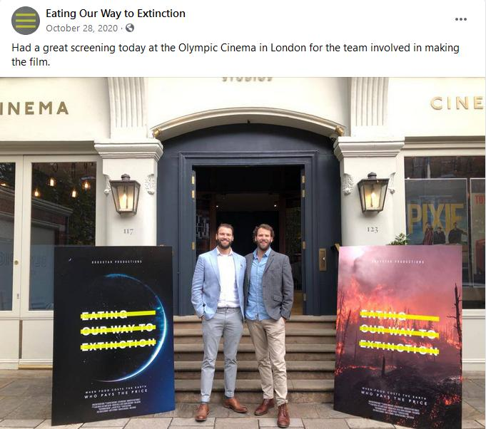 Eating Extinction Oct 2020 screening