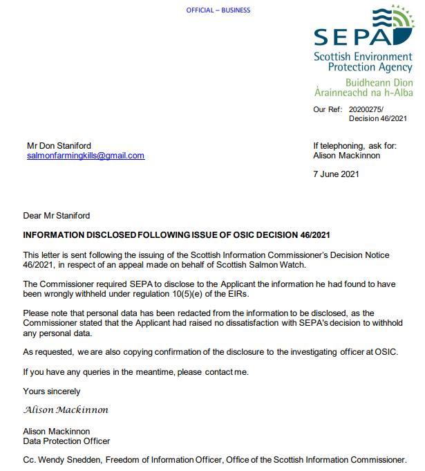 SEPA letter 7 June 2021 #1