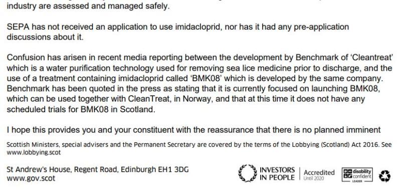 SG letter backtracking on Imidacloprid 21 June 2021 #2