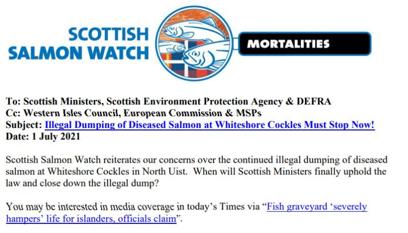 Letter to Scottish Ministers re