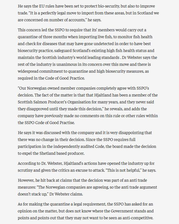 Salmondemic blog July 2021 #26 SSPO expelled Grieg