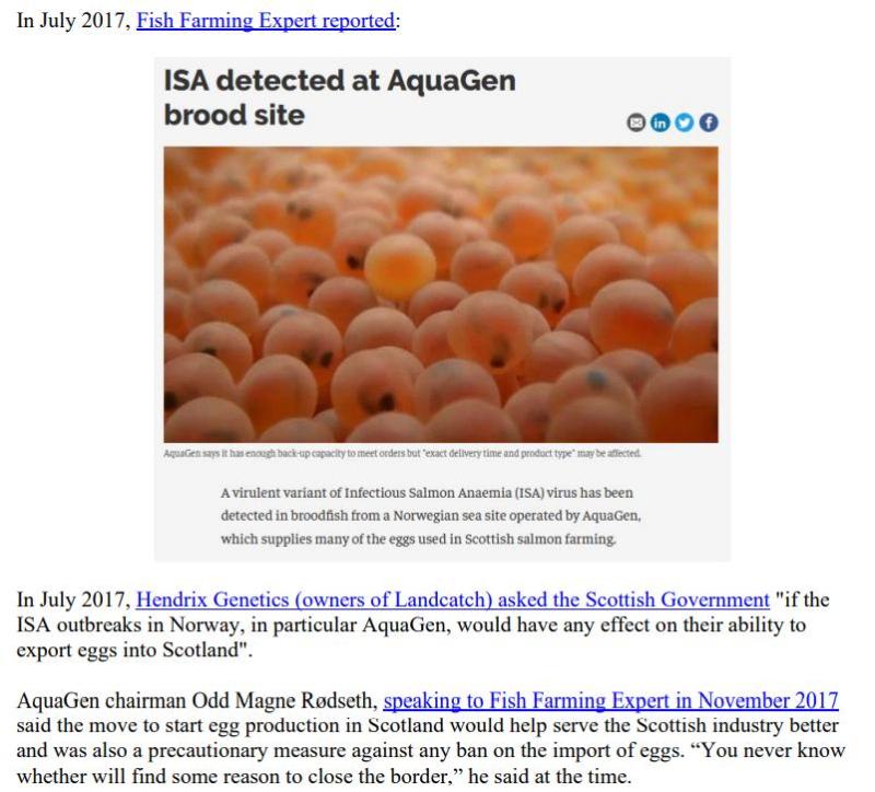 Media Backgrounder Scottish Salmon Recurring ISA Nightmare August 2021 #3