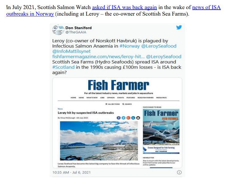 Media Backgrounder Scottish Salmon Recurring ISA Nightmare August 2021 #10