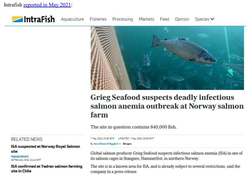 Media Backgrounder Norway Infectious Salmon Aquacalypse Going Global Since 1984 August 2021 #3