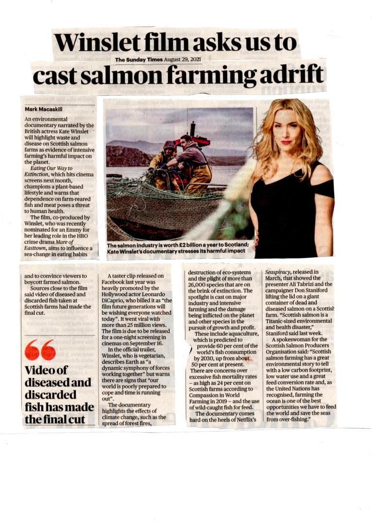 Sunday Times 29 Aug 2021 Winslet film newspaper version