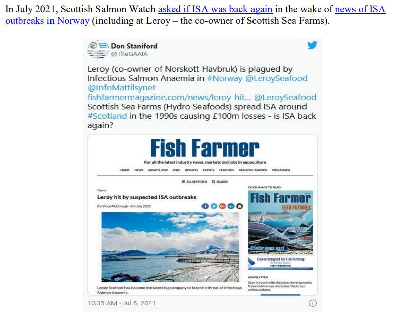 Letter to Scottish Ministers re ISA 30 August 2021 #4
