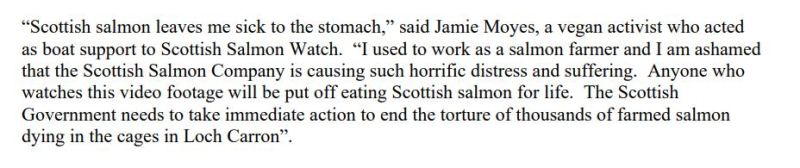 PR Horror Videos Reveal Welfare Abuse Inside Scottish Salmon & Trout Cages 12 September 2021 #2