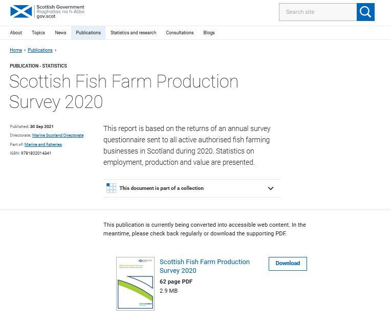 2020 Scottish Fish Farm Survey